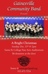 Gville Community Band xmas Poster 2013